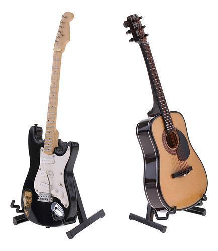 2pcs 1/6 modelo de instrumentos musicales de guitarra en