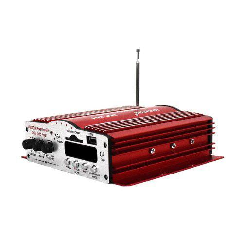 Amplificador 4 canales para auto usb micro sd fm auxiliar /e