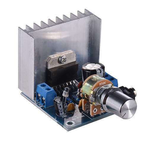 Amplificador audio estéreo 2.0 módulo 15w + 15w de dual