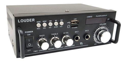 Amplificador perifoneo para sonido ambiental o usb/sd