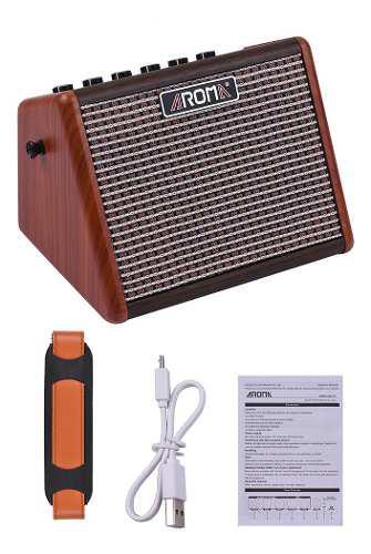 Amplificador p/guitarra acústica aroma ag-15a 15w portátil
