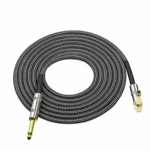 Audio de cable de guitarra de instrumentos musicales ycable