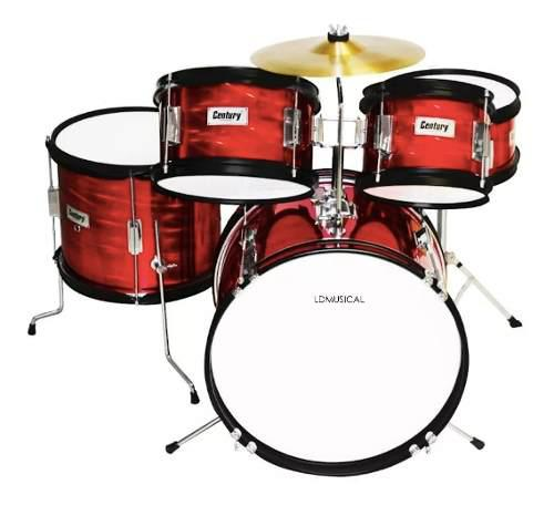 Batería junior century infantil 5 tambores + accesorios !!