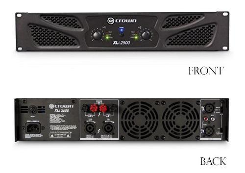 Crown xli2500 amplificador de potencia 1500 w a 8 ohms