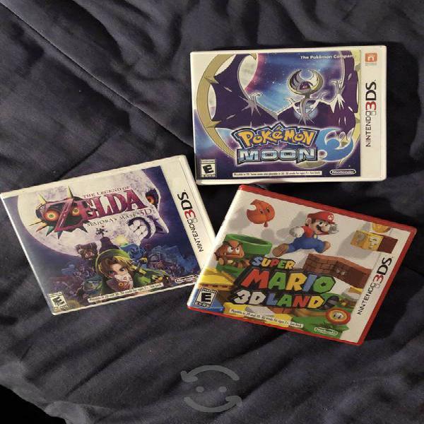 Juegos 3ds majoras pokemon mario