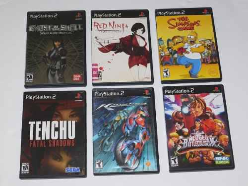 Juegos Ps2 Ghost In The Shell Los Simpsons Tenchu