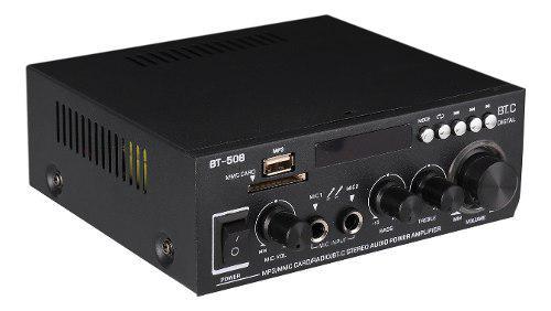 Mini amplificador de potencia audio reproductor de mp3 radio