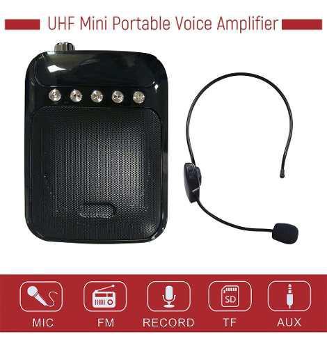 Uhf mini amplificador de voz portátil