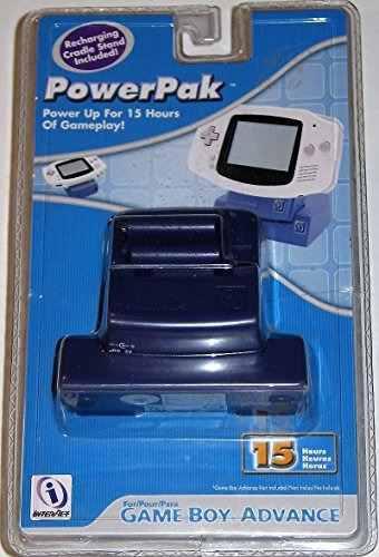 Accesorios,gba power pak - indigo - game boy advance