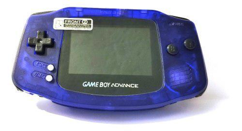 Gameboy advance retroiluminado backlight morado trasparente.