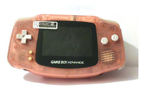 Gameboy advance retroiluminado rosa