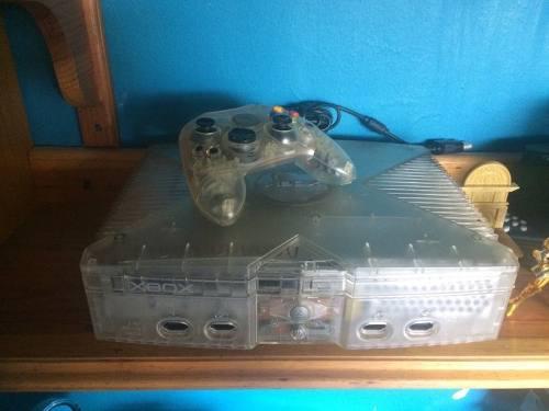 Xbox clasico cristal con chip- demon games store