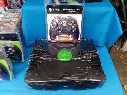 Xbox clásico modificado con juegos control nuevo