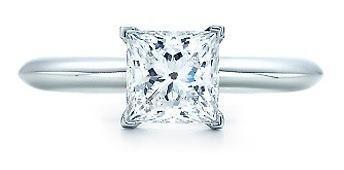 Anillo de diamante cultivado princess de 50 pt. y oro de 14k