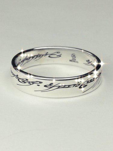 Anillo único plata 925 el señor de los anillos el hobbit