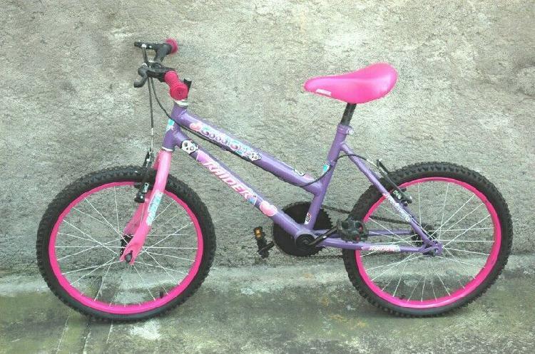 Bicicleta rider para niña r20