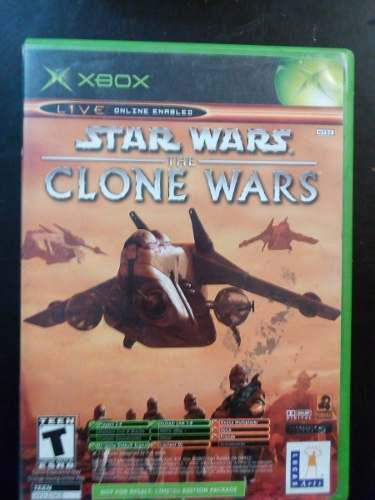 Video juego xbox clasico star wars clone wars & tetris wordl