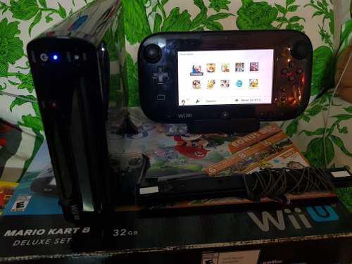 Wii u deluxe completo 96gb con juegos al 100