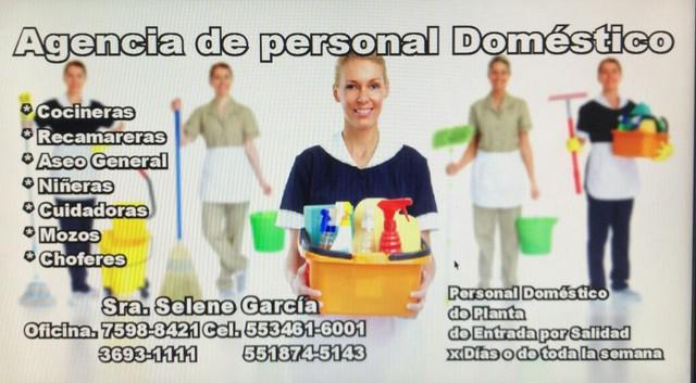 Agencia de cocineras-recamareras-niñeras-cuidadoras