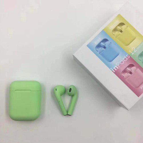 Audífonos bluetooth i12 manos libres air pods de colores