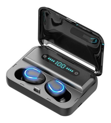 Audífonos bluetooth impermeables manos libres con luz azul