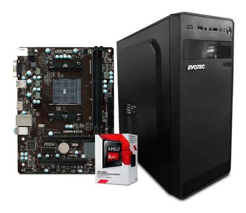 Computadora pc cpu gamer barata amd a6 radeon ram 4gb hdd