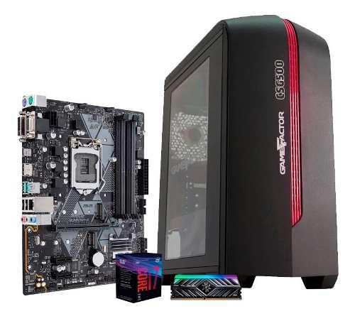 Computadora pc cpu gamer intel core i7 8700 500gb 8gb 80+