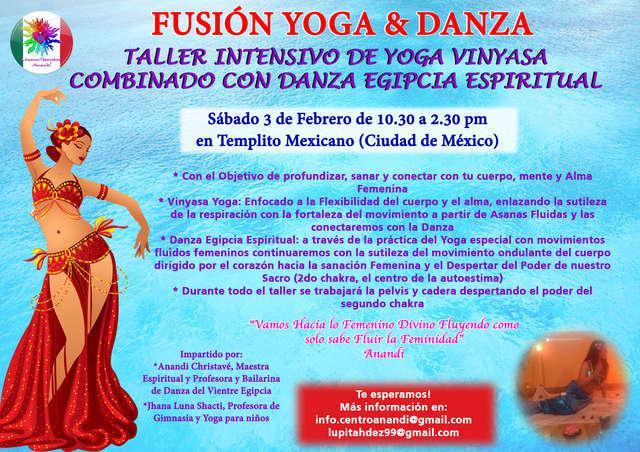 Taller fusión de yoga & danza. sábado 3 febrero de la