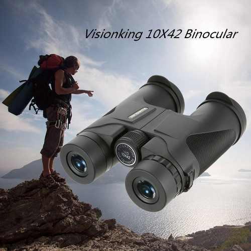 Visionking 10x42 caza campamento binocular tejado telescopio