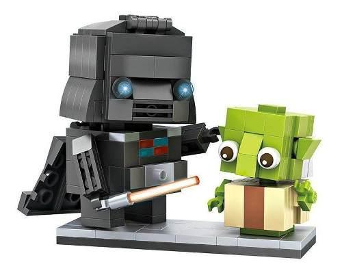 Loz brickheadz star wars - darth vader & yoda