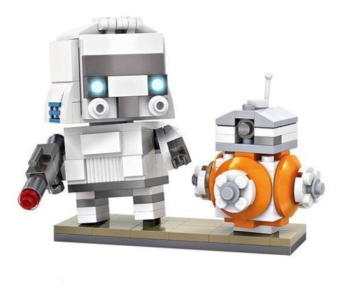 Loz brickheadz - star wars stormtrooper & bb-8