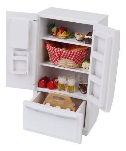 Miniatura electrodomésticos de refrigerador de madera para