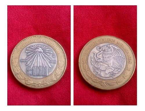 Moneda plata y bronce 100 años reforma monetaria 1905-2005