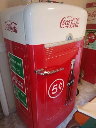 Refrigerador de colección coca cola