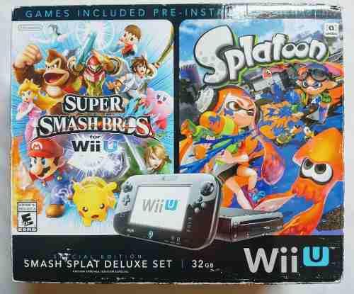Wii u edición especial smash splat deluxe set, 32gb.