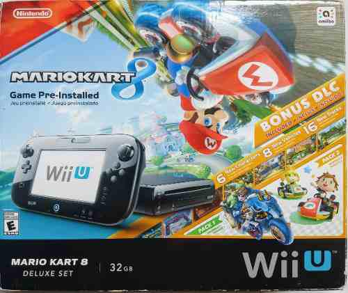 Wii u, mario kart 8, deluxe set, 32gb.