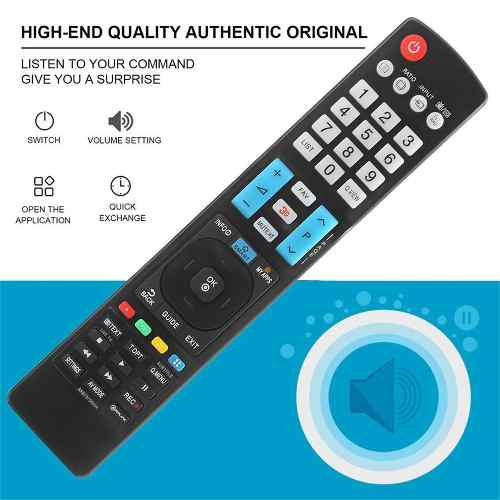 Control remoto para tv inteligente led lcd lg akb73756504