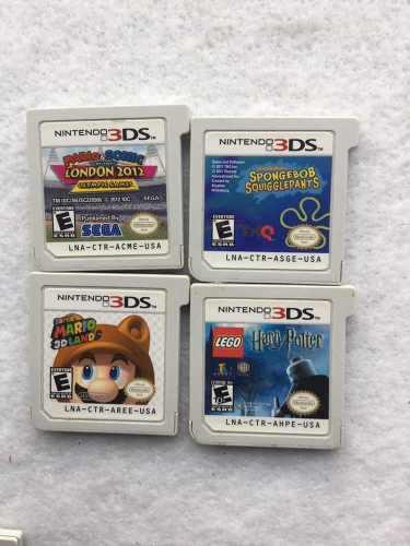 Cuatro juegos para nintendo 3ds 2ds new 3ds
