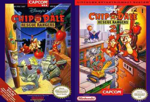 Juegos chip 'n dale 1 & 2 nes pc/android windows 7/10