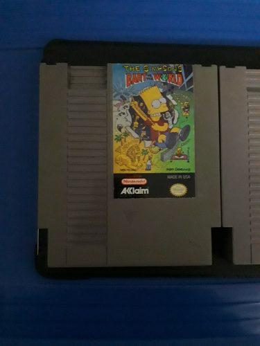 Juegos nes the simpsons bart vs the world