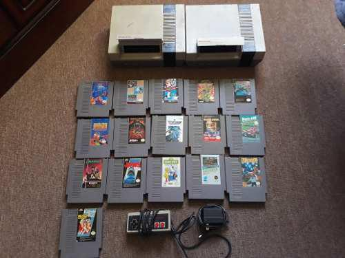 Lote 2 nintendo nes + juegos punch out tortugas