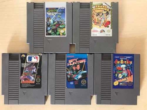 Paquete lote juegos para nintendo nes turtles, burger, crash