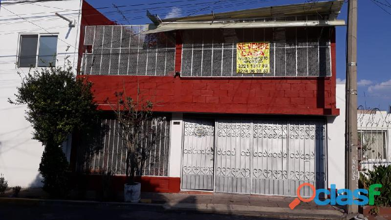 Casa sola 5 recámaras cochera doble san josé mayorazgo puebla