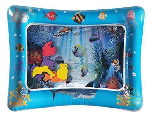Colchoneta de juego de agua inflable colorida para bebé