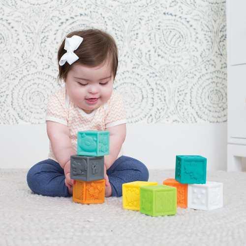 Juegos sensoriales bebé pelotas bloques animales 20 piezas