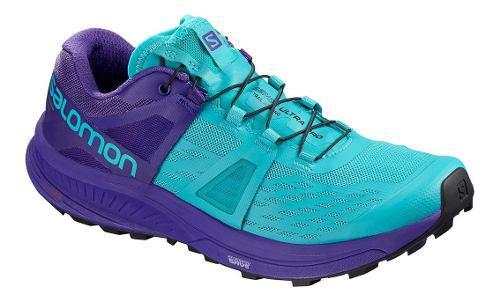 Tenis salomon mujer running ultra pro correr azul/morado