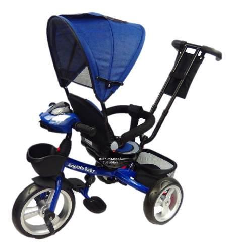 Triciclo dirigible bebe 6 - 1 musical giratorio angelin baby
