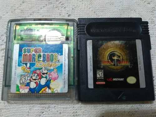 Gameboy color paquete mario y mortal kombat