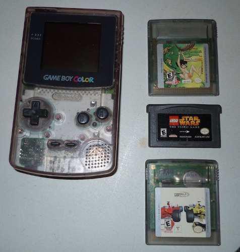 Gameboy color transparente con juegos incluidos checa