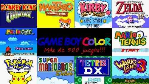 Juegos retro gameboy color +500 juegos para pc y android